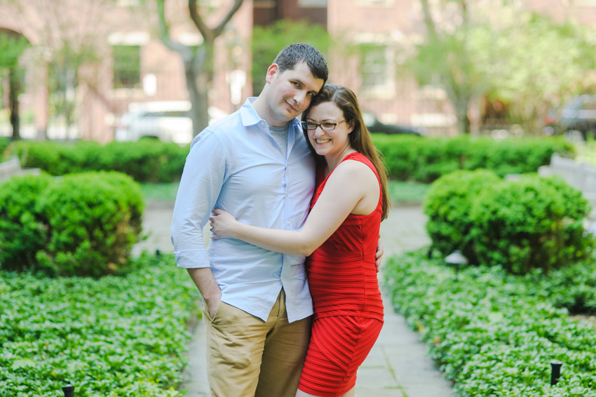 Beacon Hill rooftop garden engagement session