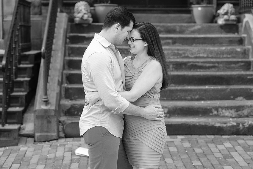 Beacon Hill summer engagement session