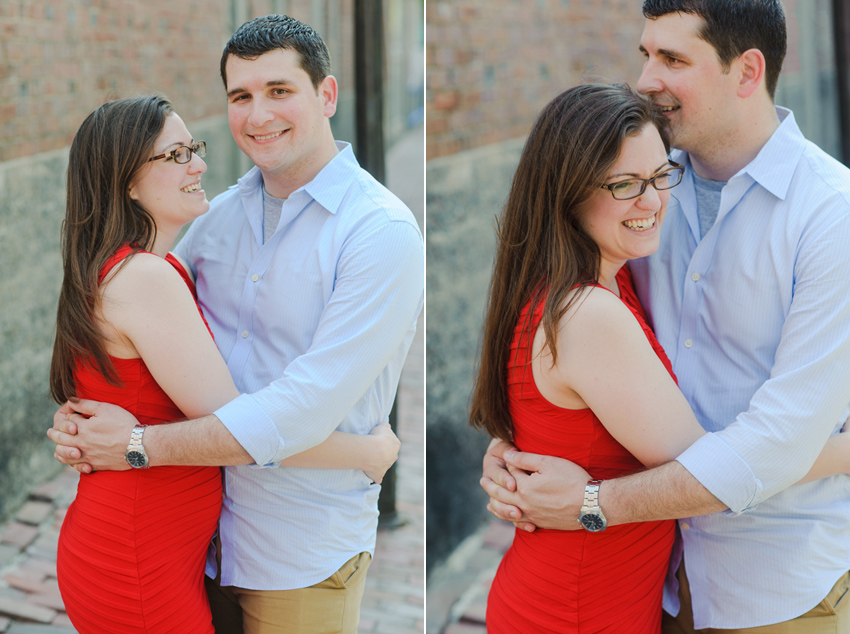 Boston fun summer engagement session