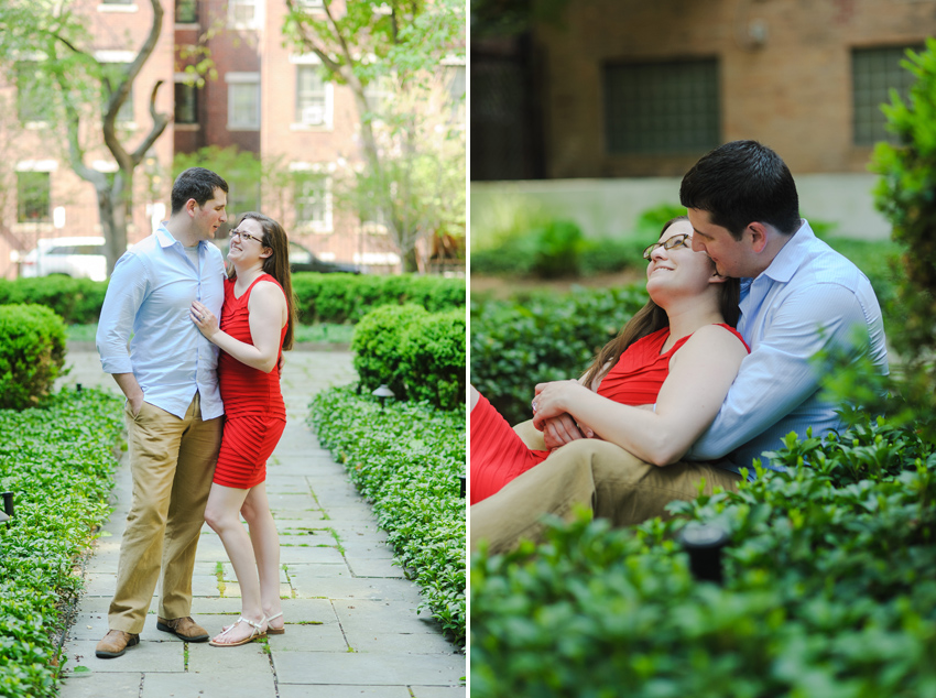 Boston roof top garden engagement session