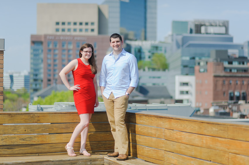 Boston skyline engagement session