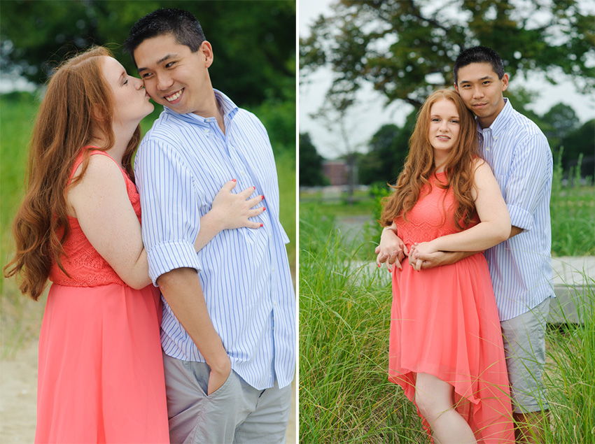 summer colorful outdoor engagement session