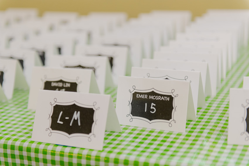 wedding place cards chalkboard