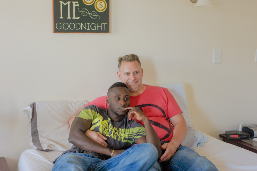 intimate same sex couple session relaxing in bed