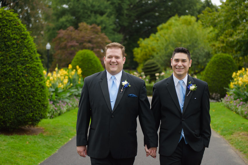 Boston Common gay wedding