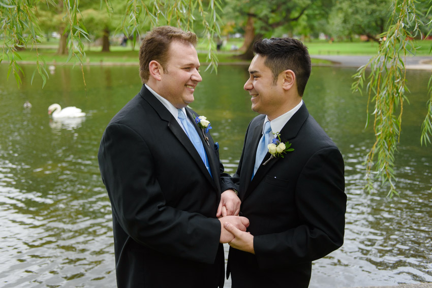 Boston Common gay couple wedding