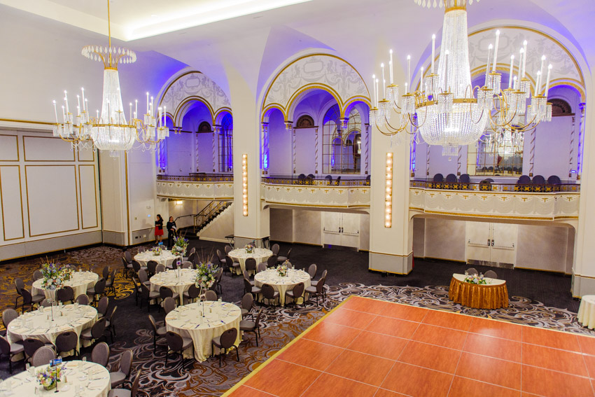 Boston Park Plaza wedding reception room