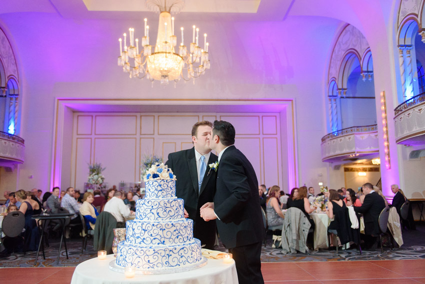 Boston Park Plaza gay wedding cake cutting