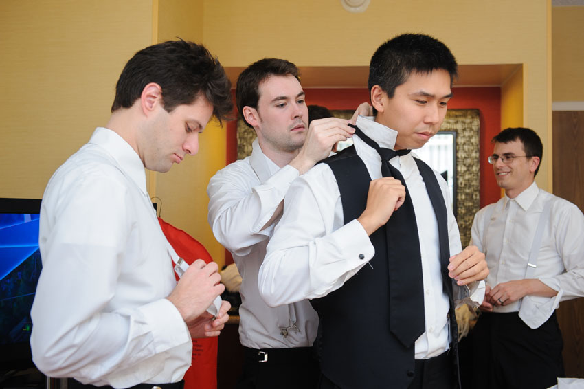 Stoughton Marriott hotel wedding groomsmen