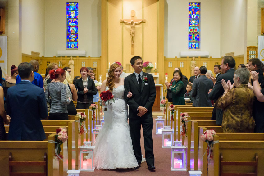 St. Bernadette Church wedding ceremony aisle