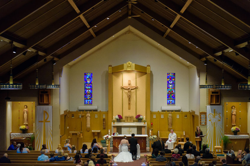 St. Bernadette Church wedding ceremony