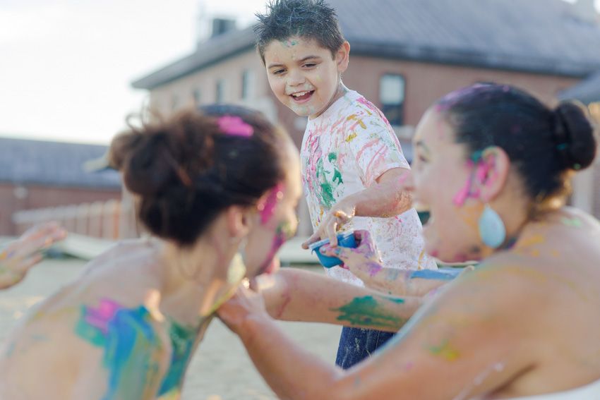 Boston paint fight family session