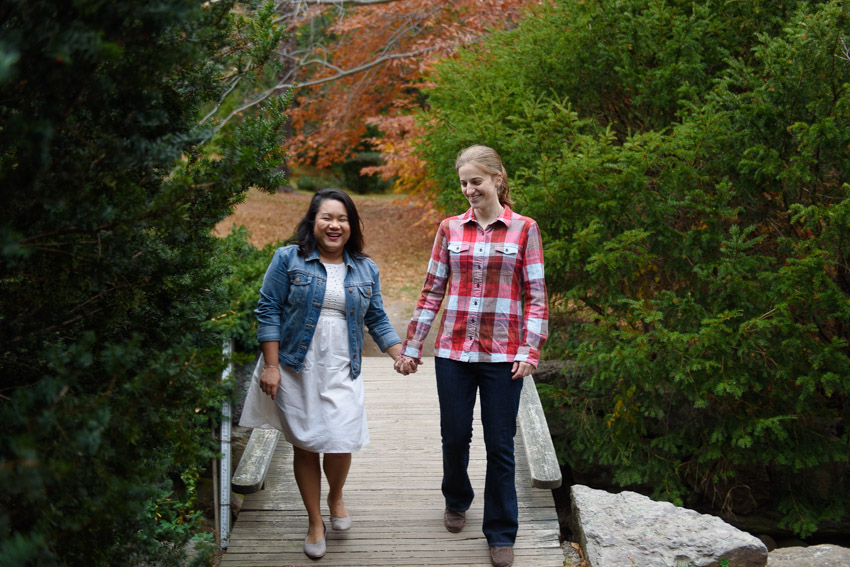 Arnold Arboretum gay engagement session
