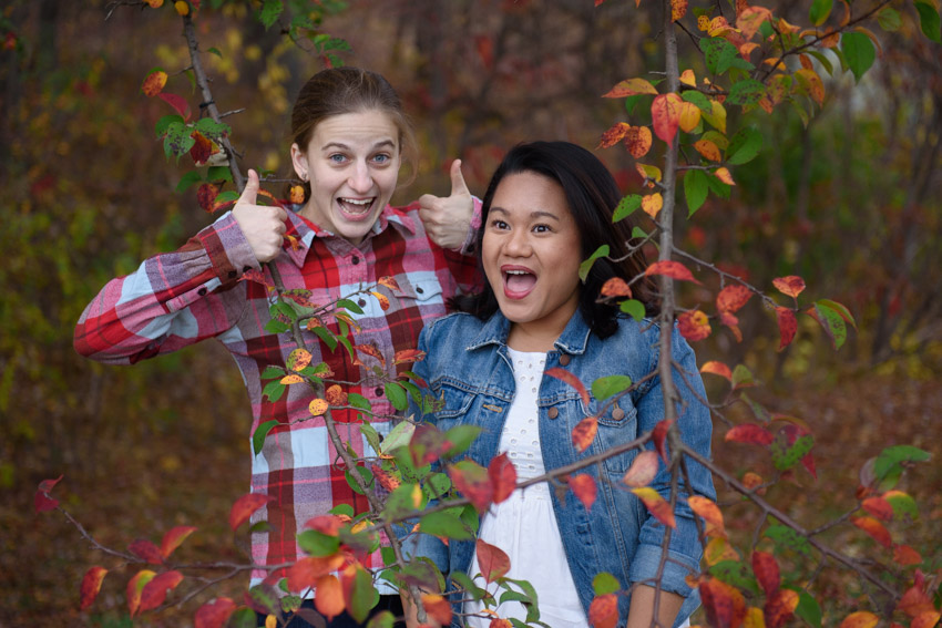 lesbian couple fun engagement session