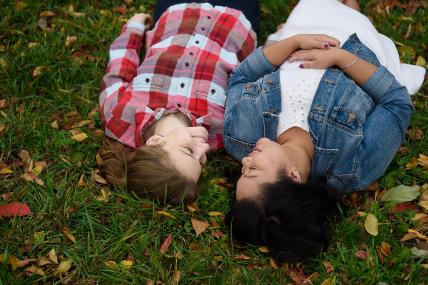 cute lesbian couple engagement session
