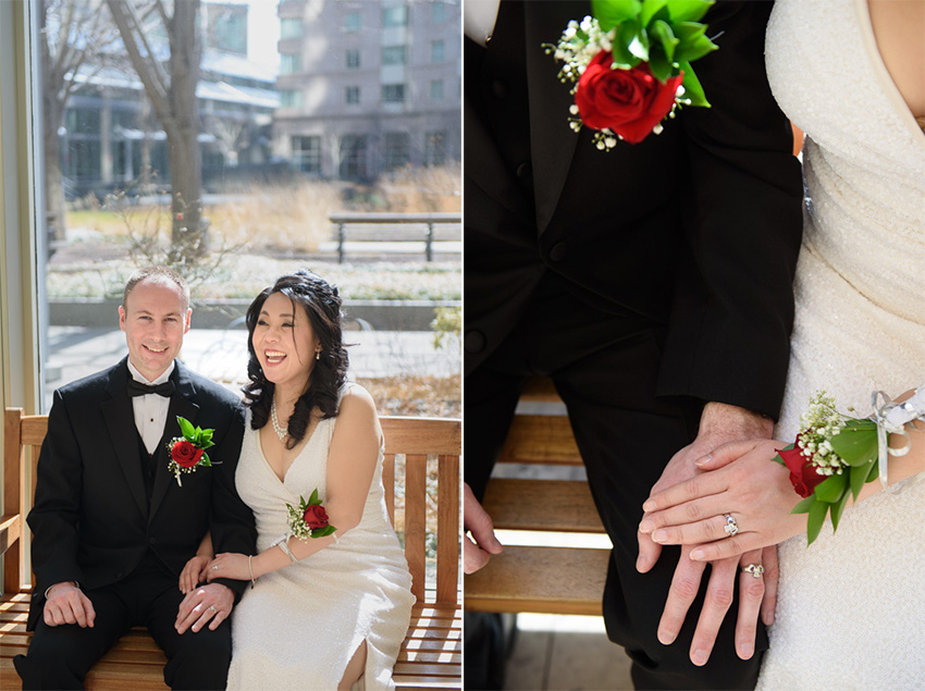 Prudential Center wedding couple