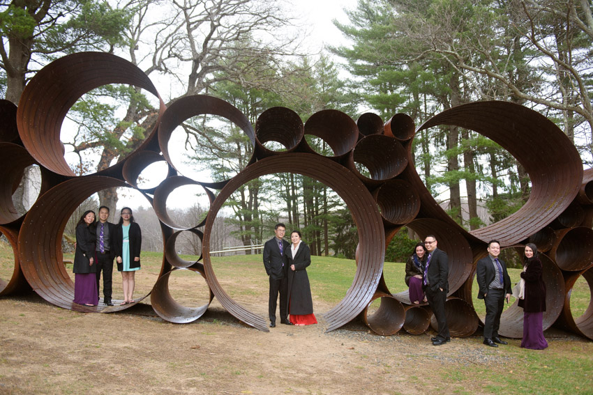 DeCordova Sculpture Museum wedding party