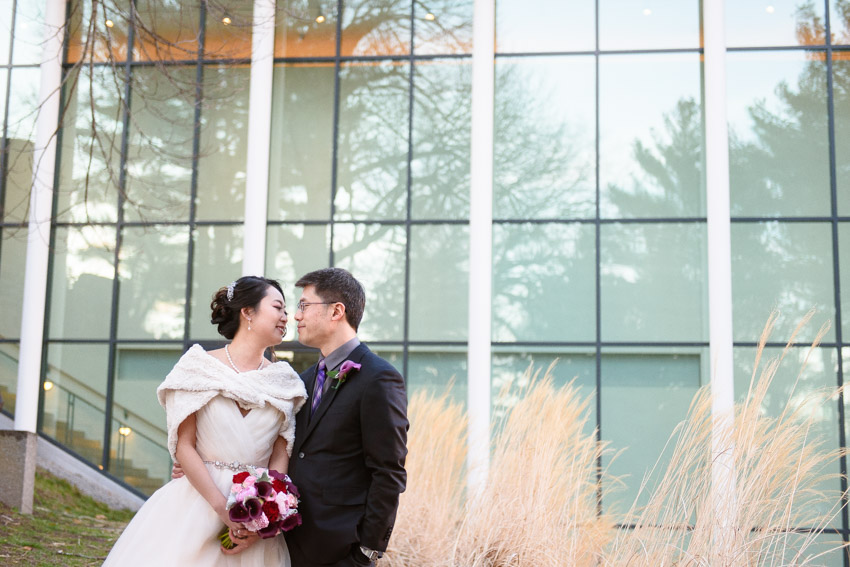 DeCordova Museum wedding couple portrait