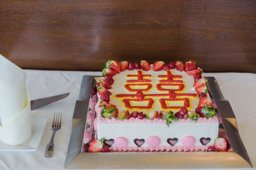 Top of the Hub Chinese wedding cake