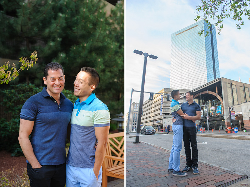 gay couple engagement session Back Bay
