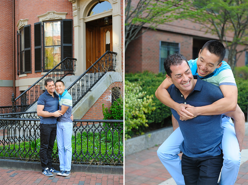 gay couple engagement South End Boston