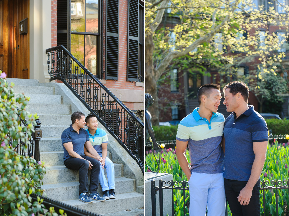 South End same-sex engagement session