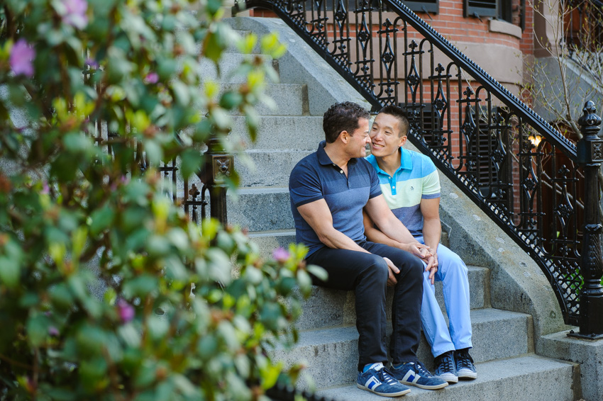 gay engagement session Boston