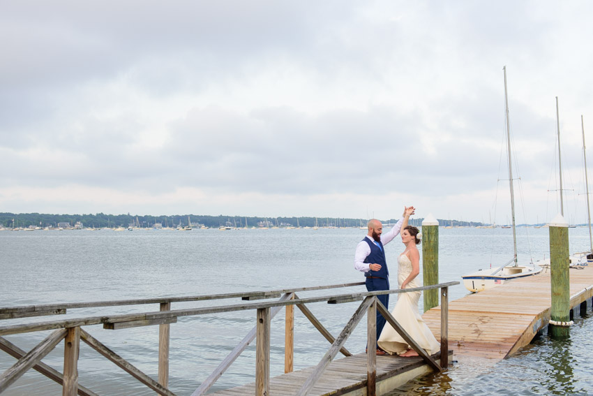 Shining Tides boardwalk wedding