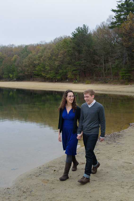 fall engagement session walden pond