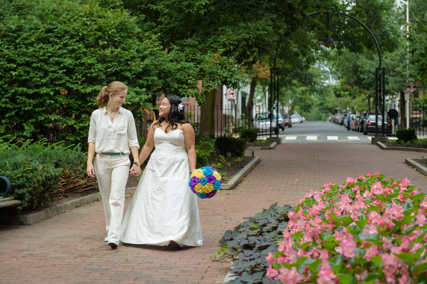 lesbian couple wedding Boston