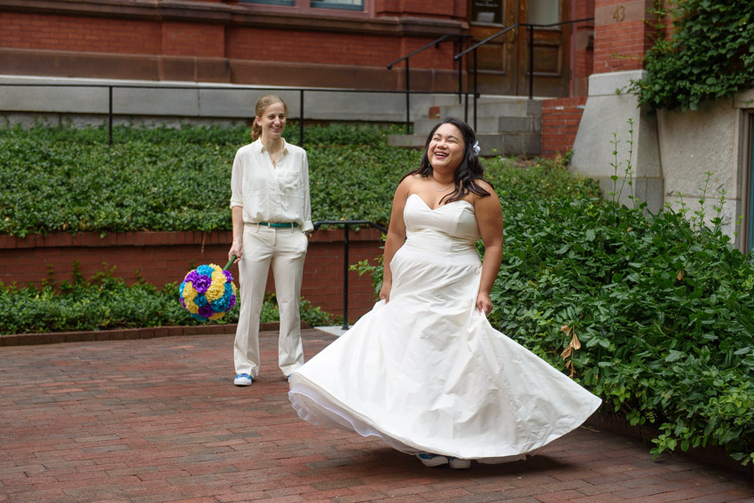 lesbian wedding Cambridge Multicultural Arts Center
