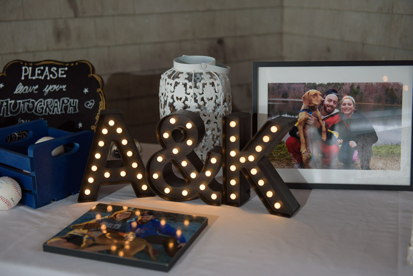 bride groom name initials marquee lights