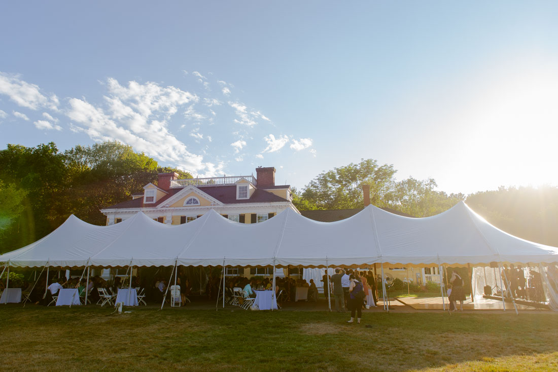 Pierce House wedding reception tent