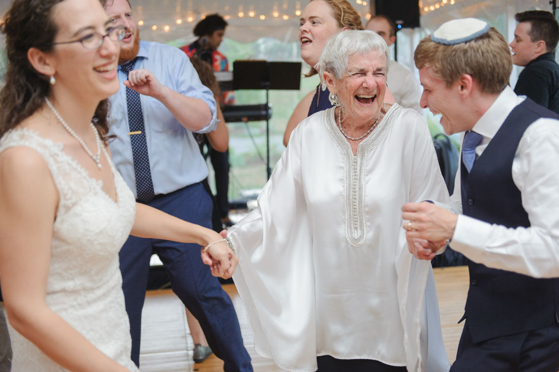 wedding reception dance with grandparent